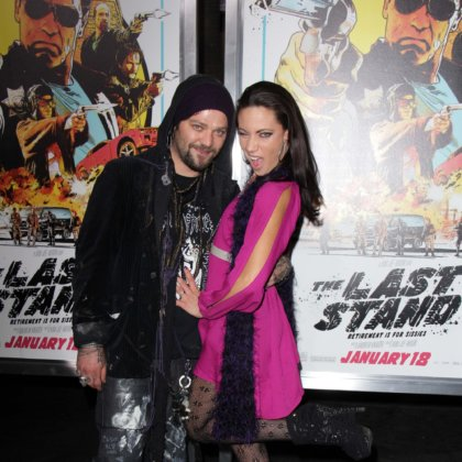 "Bam Margera and Nicole Boyd at ""The Last Stand"" World Premiere, Chinese Theater, Hollywood, CA 01-14-13"
