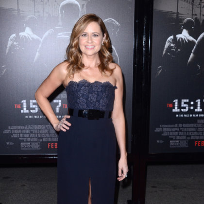 "LOS ANGELES - FEB 5:  Jenna Fischer at the ""The 15:17 To Paris"" World Premiere at the Warner Brothers Studio on February 5, 2018 in Burbank, CA"