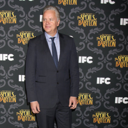 "Tim Robbins at the IFC's ""The Spoils Of Babylon"" Screening at Directors Guild of America on January 7, 2014 in Los Angeles, CA"
