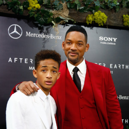 "Actor Will Smith (R) and son Jaden attend the premiere of ""After Earth"" at the Ziegfeld Theatre on May 29, 2013 in New York City."