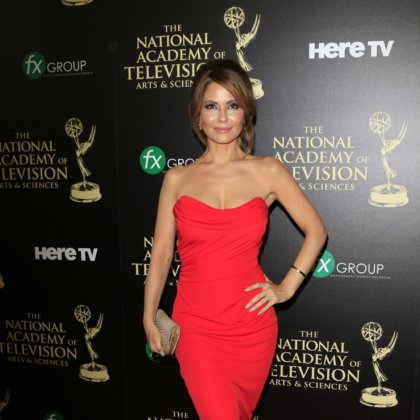 Lisa LoCicero at The 41st Annual Daytime Emmy Awards Press Room at The Beverly Hilton Hotel on June 22, 2014 in Beverly Hills, California