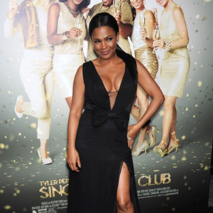 "Nia Long arrives to the Tyler Perry's ""The Single Moms Club"" LA Premiere on March 10, 2014 in Hollywood, CA"