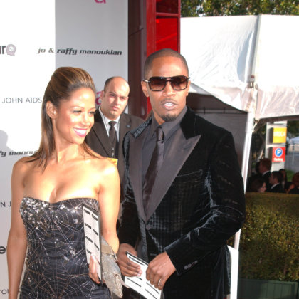 Stacey Dash and Jamie Foxx at the 18th Annual Elton John AIDS Foundation Oscar Viewing Party, Pacific Design Center, West Hollywood, CA. 03-07-10