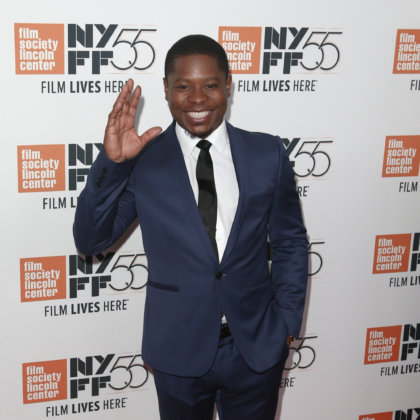 "Jason Mitchell attends the ""Mudbound"" premiere at Alice Tully Hall at Lincoln Center during the 55th New York Film Festival on October 12, 2017 in New York City."