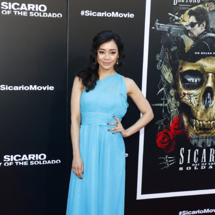 Aimee Garcia at the premiere of 'Sicario: Day Of The Soldado' held at the Regency Village Theatre in Westwood, USA on June 26, 2018.
