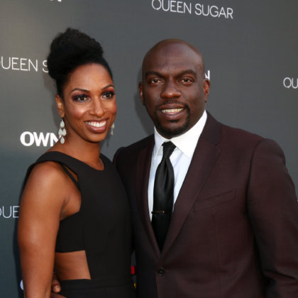 "Conisha Wade, Omar J Dorsey at the Premiere Of OWN's ""Queen Sugar"" at the Warner Brothers Studios on August 29, 2016 in Burbank, CA"