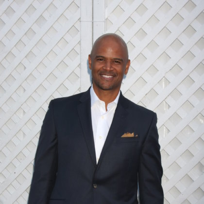 Dondre T Whitfield at the 17th Annual HollyRod Designcare Gala at the The Lot on August 8, 2015 in West Hollywood, CA