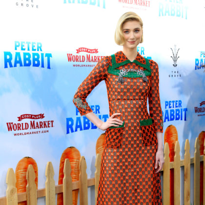 "Elizabeth Debicki at the ""Peter Rabbit"" Premiere at the Pacific Theaters at The Grove on February 3, 2018 in Los Angeles, CA"