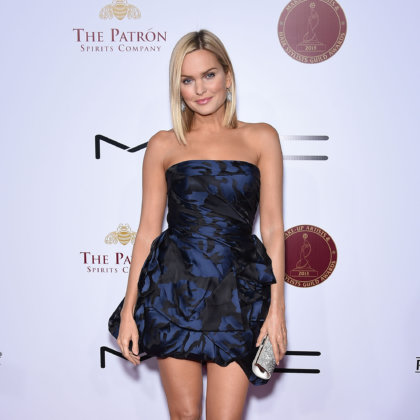 Sunny Mabrey arrives to the Make-Up Artists & Hair Stylists Guild Awards on February 14, 2015 in Hollywood, CA