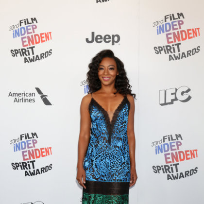 Betty Gabriel at the Film Independent Spirit Awards at the Beach on March 3, 2018 in Santa Monica, CA