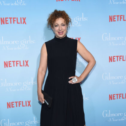 Alex Kingston arrives to the Netflix's 'Gilmore Girls: A Year In The Life' Premiere on November 18, 2016 in Westwood, CA