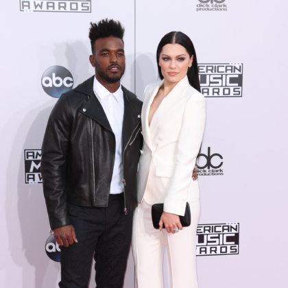 Luke James, Jessie J at the American Music Awards - Arrivals at the Nokia Theater on November 23, 2014 in Los Angeles, CA