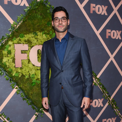 Tom Ellis arrives for the FOX Fall Party on September 25, 2017 in West Hollywood, CA