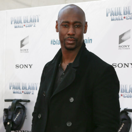 "D.B. Woodside attends the world premiere of ""Paul Blart: Mall Cop 2"" at AMC Loews Lincoln Square on April 11, 2015 in New York City."